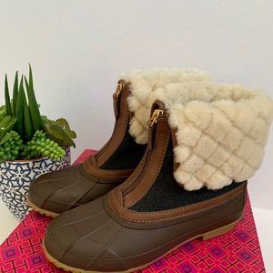 Tory Burch Abbot shearling bootie size 7US